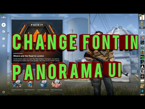 How to change font style in Panorama UI csgo - [Urdu/Hindi]