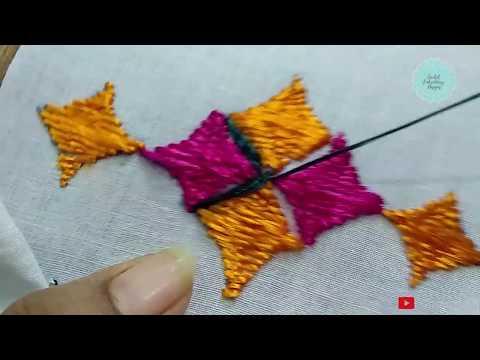 Hand Embroidery - Phulkari Stitch - Sarbjit Embroidery Designs