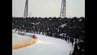 Волна на стадионе Труд (Иркутск). Финал ЧМ по хоккею с мячом