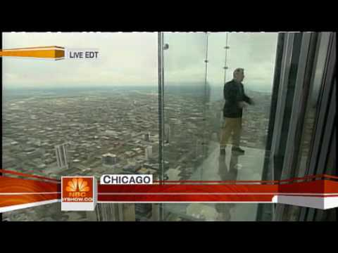 Sears Tower opens Glass observation deck.