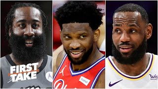 Stephen A. and Max debate the NBA MVP race: James Harden, Joel Embiid and LeBron | First Take