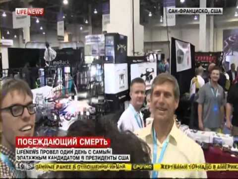 Zoltan Istvan Presidential campaign & Immortality Bus on Russian TV Live News