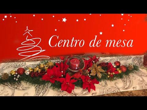 Centro de mesa para navidad . Decoracion con productos del tree dollar