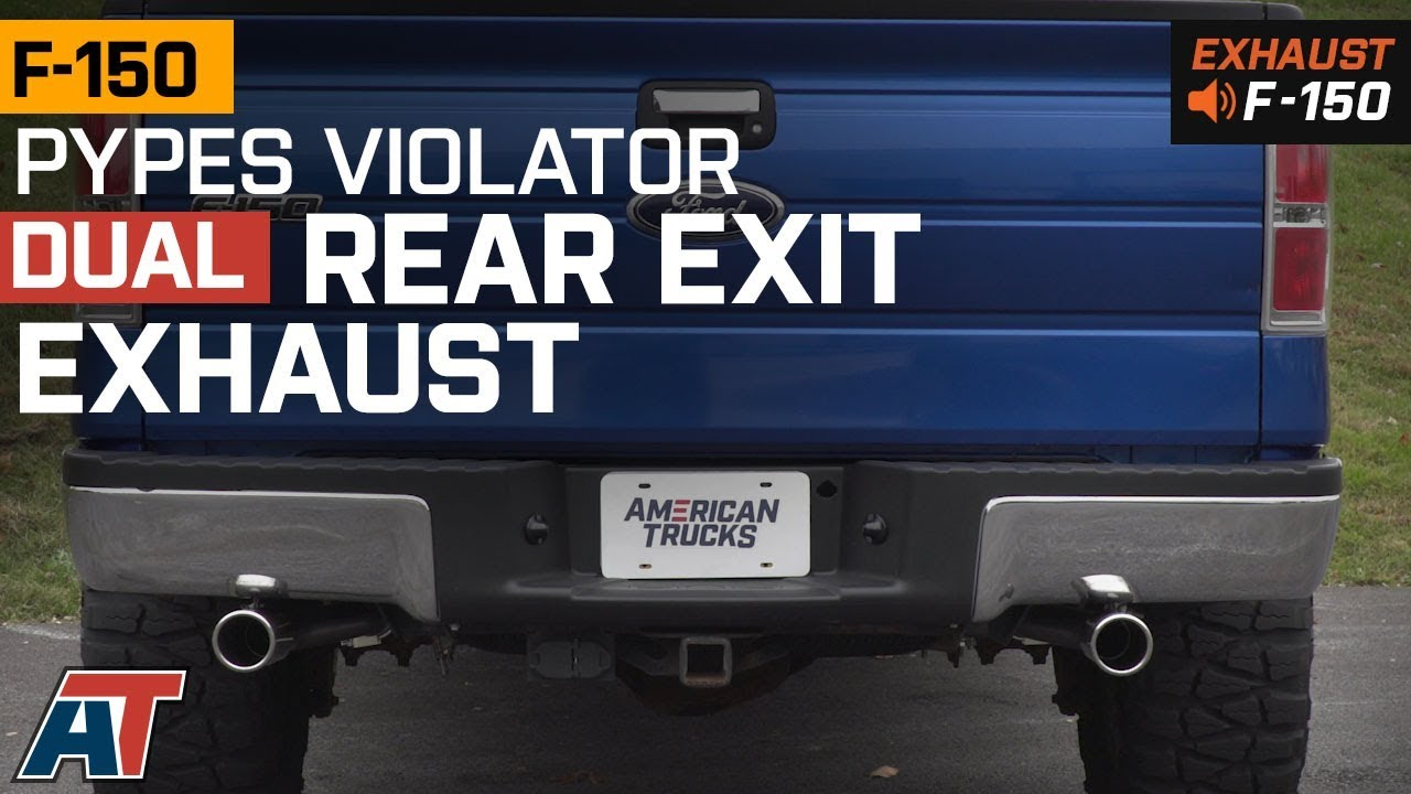 2011 2014 f150 pypes violator dual rear exit system 3 5l ecoboost exhaust sound clip install
