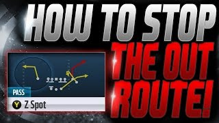 HOW TO STOP THE OUT ROUTE! | HOW TO IMPROVE YOUR DEFENSE! | MADDEN 16 TIPS AND TRICKS