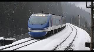 【4K60P】智頭急行スーパーはくとの雪景色