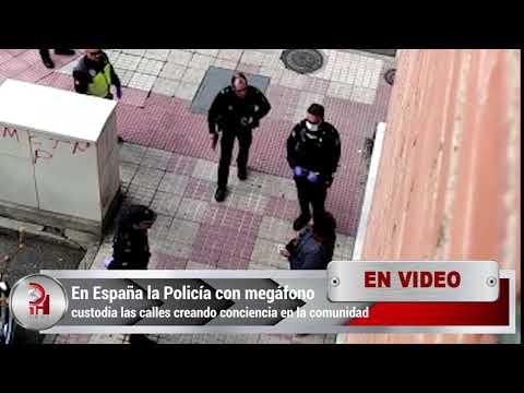 en-españa-la-policía-con-megáfono-custodia-las-calles-creando-conciencia-en-la-comunidad