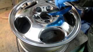 Полировка колесного  диска до зеркала. Как это делается. Polishing the wheel to the mirror.