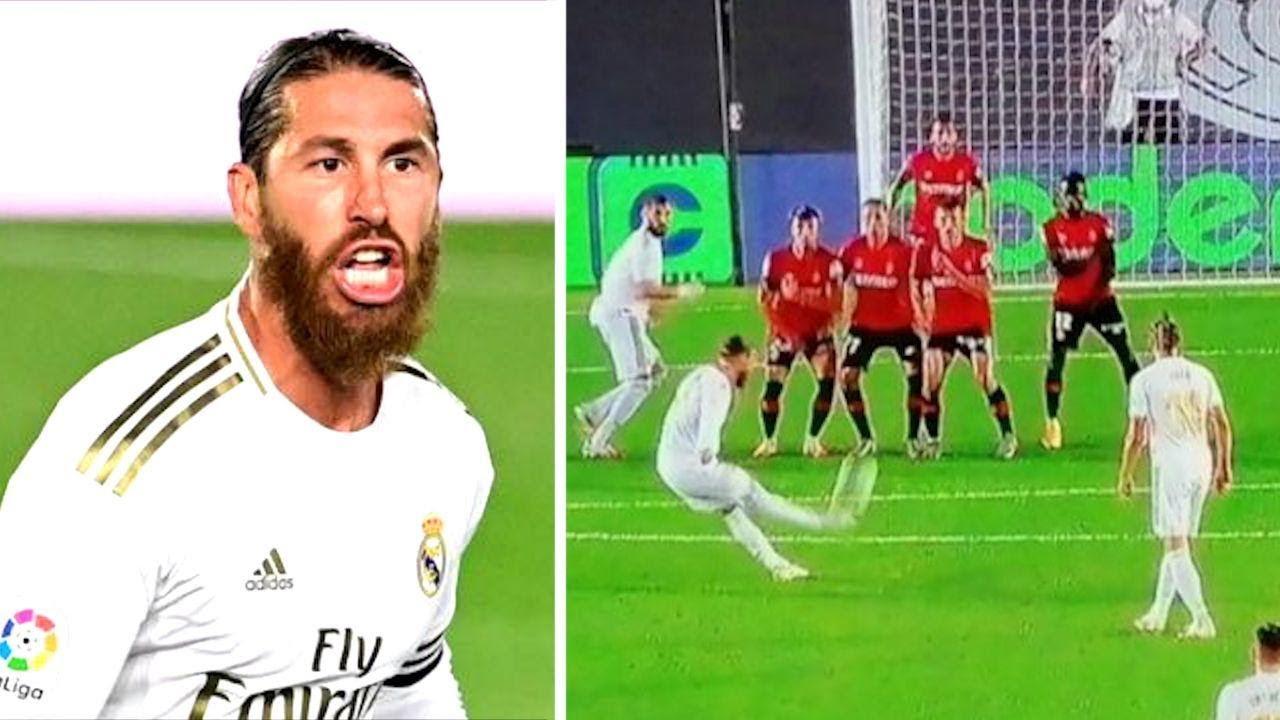 Серхио Рамос ПОЛОЖИЛ гол со штрафного! Реал 2:0 Мальорка. Это уже его 8-я банка в Ла Лиге! MyTub.uz