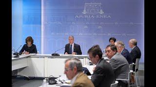 Urkullu llama a la colaboración institucional en los peores momentos de la crisis