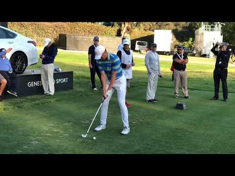 Jordan Spieth slow-mo golf swing 2018 Genesis Open