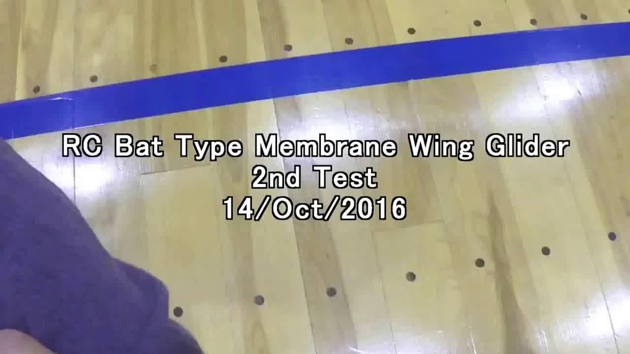 Rc Bat Type Membrane Wing Glider 2nd