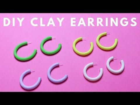DIY Clay Hoop Earrings