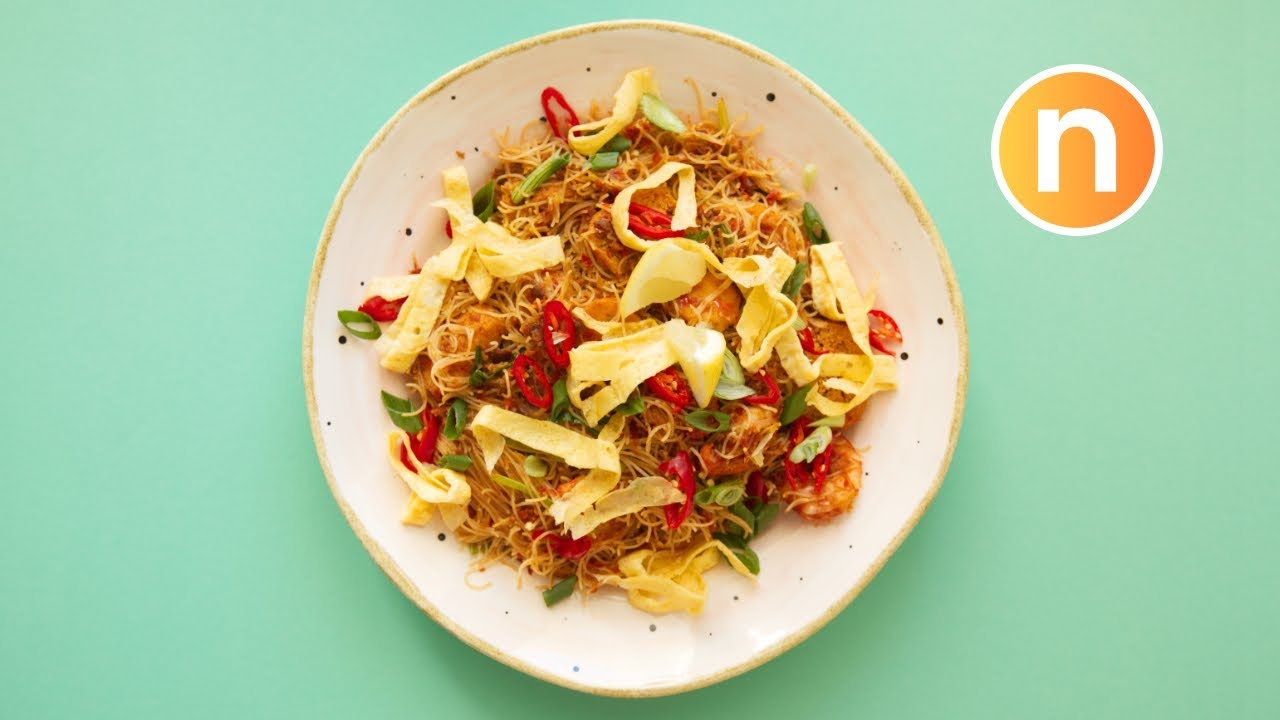 Mee Siam Goreng | Spicy Fried Rice Vermicelli Noodles ...
