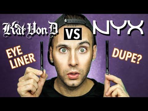 Kat Von D vs NYX!   Tattoo Liner vs  Epic Ink