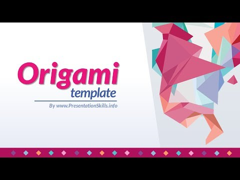 free powerpoint template origami purple pink grey youtube