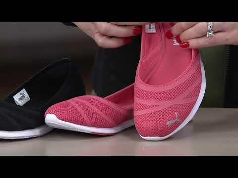 7360f33462ed46 PUMA Mesh Slip-On Shoes - Vega Ballet on QVC - YouTube