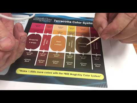 how to mix colors with magicezy tile repair kit terracotta color system