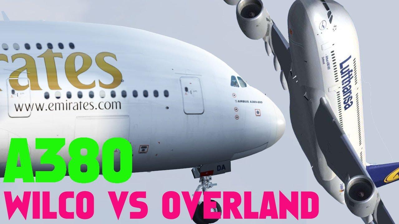 Wilco A380 vs Overland A380 FSX HD
