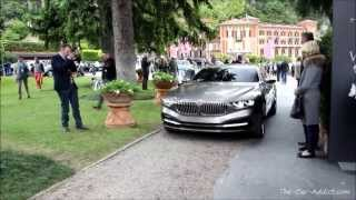 BMW Pininfarina Gran Lusso Coupe DRIVING at Concorso d Eleganza Villa d Este 2013