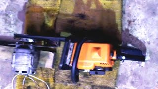 генератор с бензопилы своими руками  generator with chainsaws(, 2015-01-20T21:09:05.000Z)
