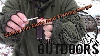 Safety pin mods and primitive fishing gorge - Mantis Outdoors