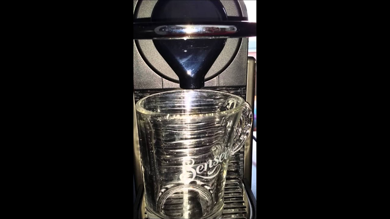 Nespresso Pixie releasing water drops after heating phase - YouTube