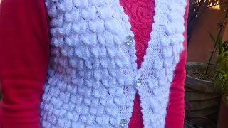 Crochet ladies jacket/ cardigan design in Hindi