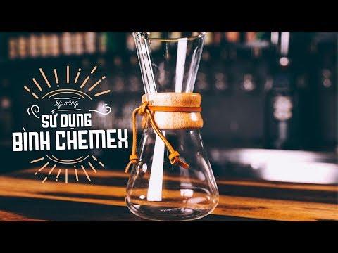 Cách pha cà phê bằng BÌNH CHEMEX thủy tinh kiểu Mỹ | Hướng Nghiệp Á Âu
