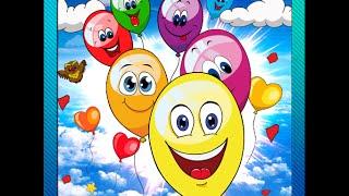 Игра для самых маленьких детей  Лопаем шарики