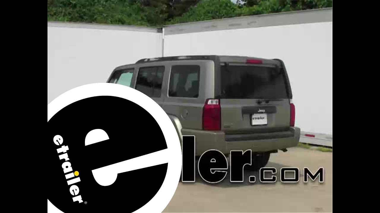 hight resolution of installation of a trailer hitch on a 2006 jeep commander etrailer com
