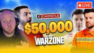 🔴$50,000 WARZONE TOURNAMENT WITH DILLON FRANCIS, TIM, AND CROWDER!