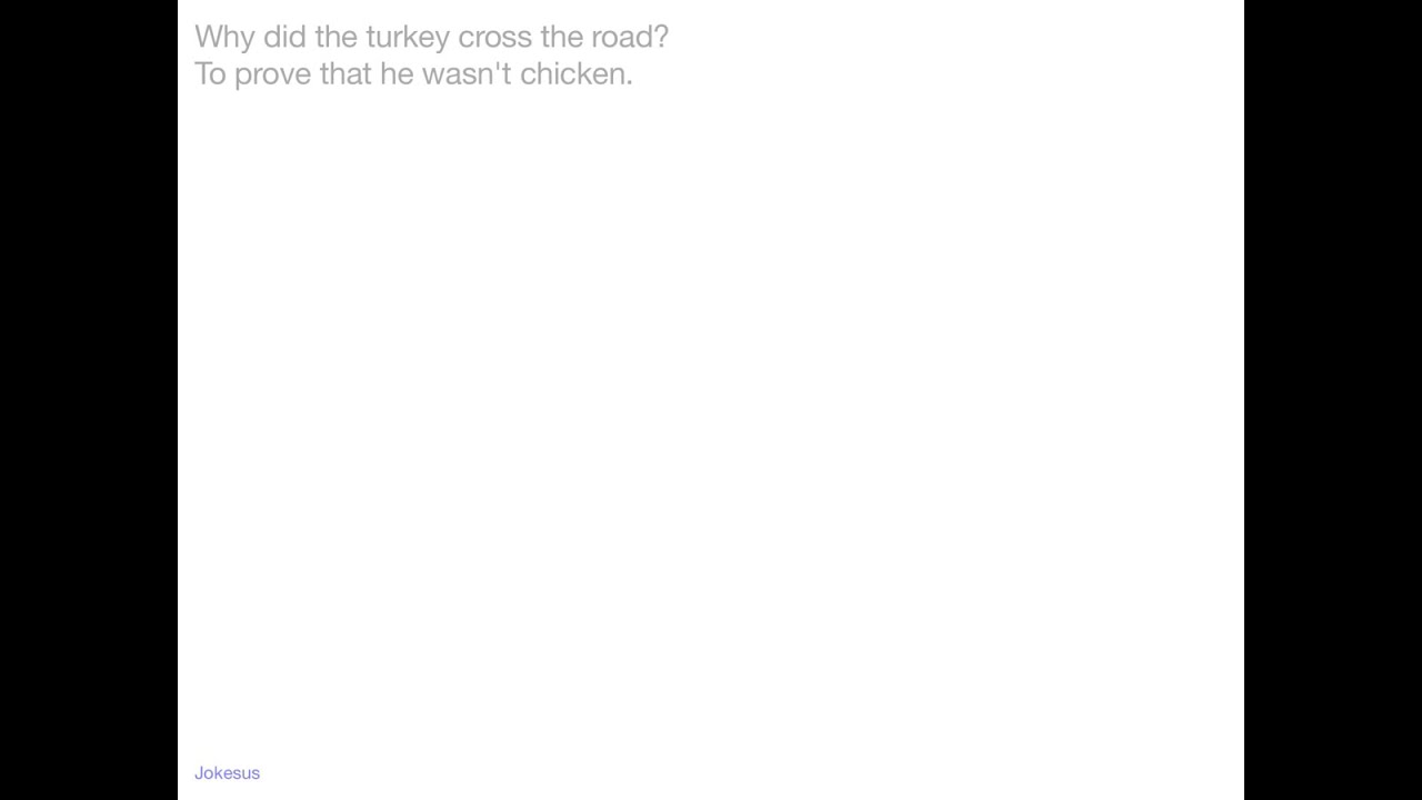 why did the turkey cross the road jokes