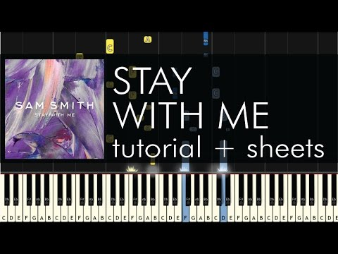 ... - Stay With Me - Piano Tutorial by PlutaX - Synthesia | FunnyDog.TV