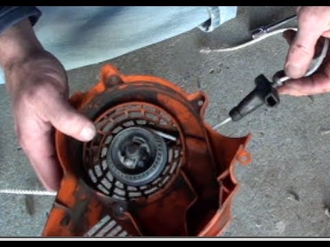 How To Replace Pull Cord Stihl Blower Youtube