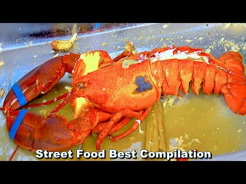 RARE Street Food Fire RED Lobster! - Seafood around the world Street Food Best Compilation Ep13