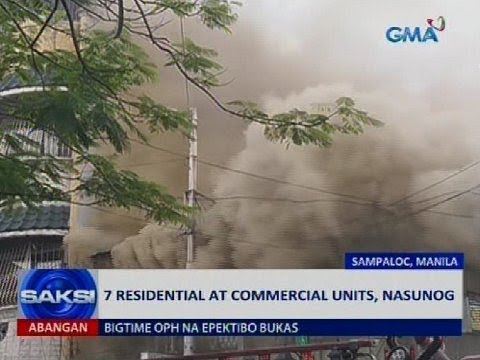 7 residential at commercial units, nasunog