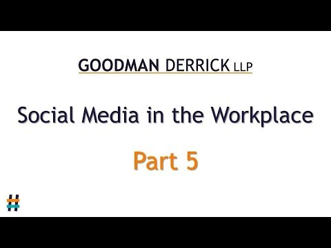 Social Media in the Workplace (7/10) Your policy
