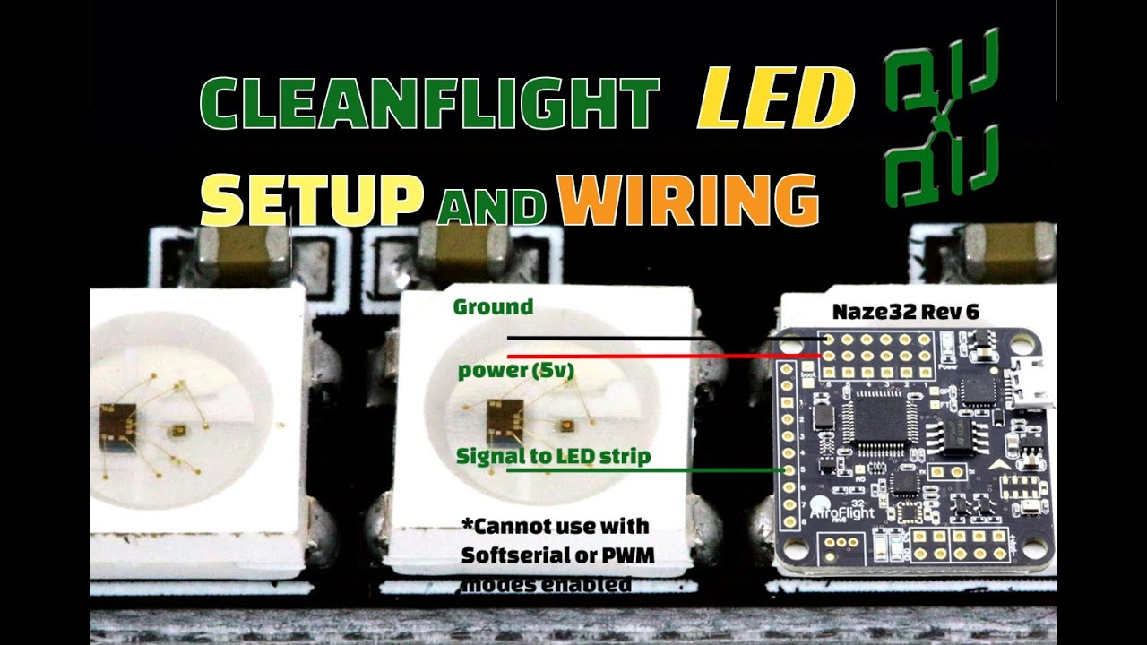 quadcopter rgb led wiring and setup in cleanflight [ 1280 x 720 Pixel ]
