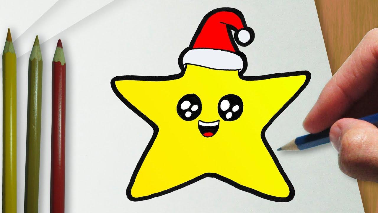 Como Desenhar Uma Estrela De Natal Fofa