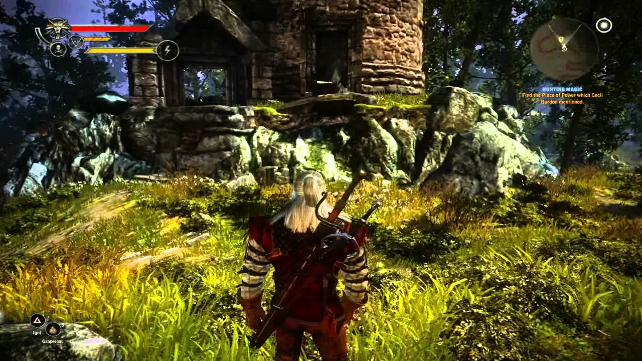 the witcher 2 enhanced edition hunting magic how to get to the place of power hd - Quest Bergroer Sessel