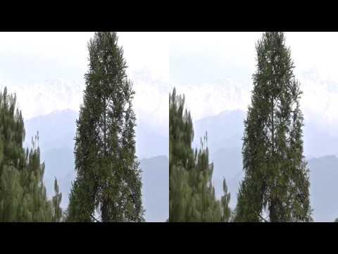 Club Himalaya resort から見た ヒマラヤ山脈の日の出(3D-stereo)