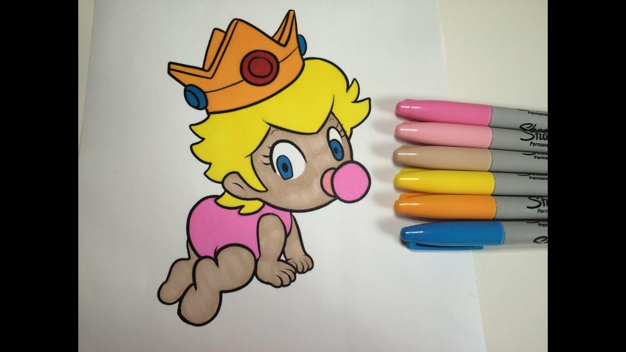 Coloring Baby Princess Peach ColorfulCat