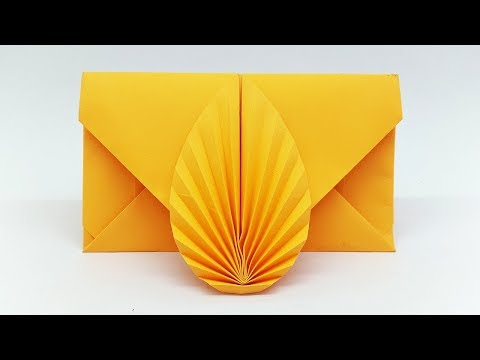 Envelope making with paper without Scissors Glue and Tape - DIY Origami Envelope easy tutorial