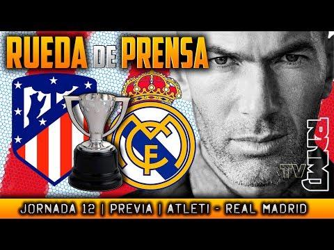 Atlético de Madrid - Real Madrid Rueda de prensa de Zidane (17/11/2017) ...