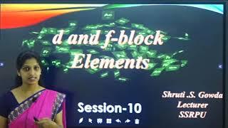 II PUC | CHEMISTRY | d&f BLOCK ELEMENTS -  10