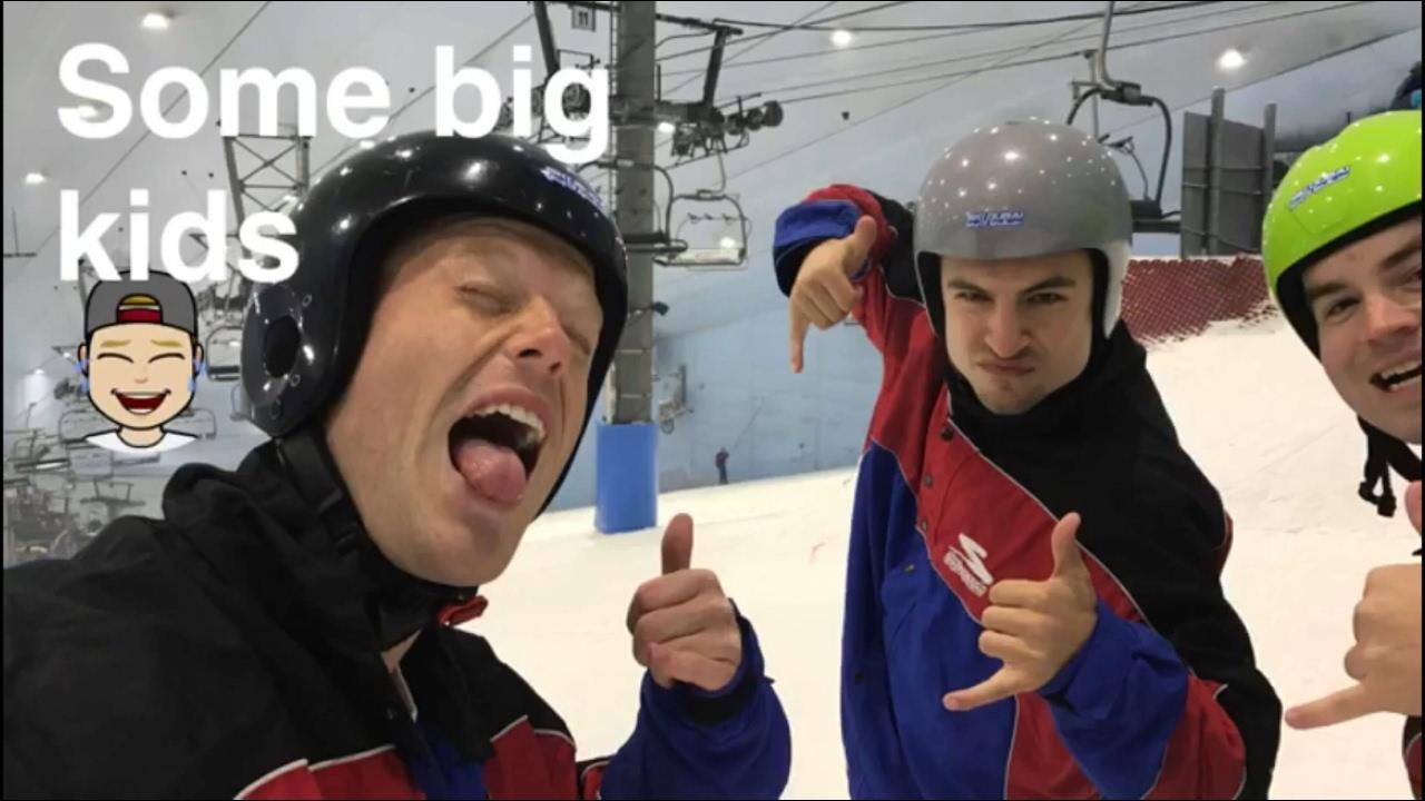 SKI DUBAI!! .. VLOG!! ⛷❄️ Snowboarding at Mall of the Emirates // DAILY TRAVEL VLOG 06 Part 2