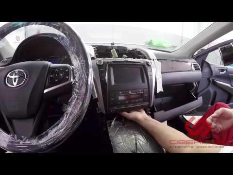 Как разобрать Toyota Camry XV50 для установки Андроид ситемы на штатный монитор