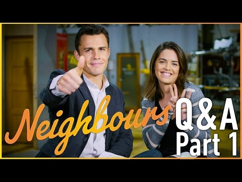 Olympia Valance Paige Smith and Andrew Morley Jack Callahan  Neighbours Q&A Part 1
