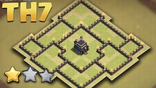 Clash of Clans - Town Hall 7 New War Layout (TH7 Anti Dragon) 2016